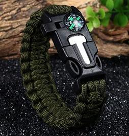 APACHE 5 in 1 Function Outdoor Paracord Survival Bracelet wi