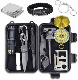 12 in 1 Emergency Survival Kit Outdoor Camping Hunting Tacti