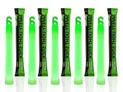 Light SticksGlow Sticks, 6 Inch Long, 12 Hour Duration, Gree