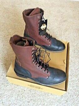 "GUIDE GEAR 13M LEATHER PACKER STYLE 11"" TALL MENS HUNTING BO"