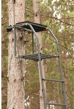 Guide Gear 18 Archers Ladder Tree Stand Hunting Bow and Arro