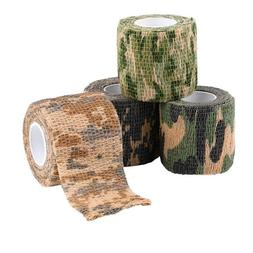 1Roll Camouflage Tapes Stretchable Army Bandage Gun Camera T