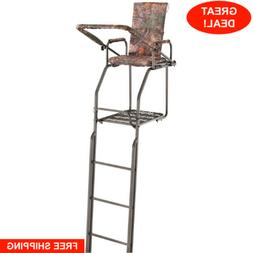 Guide Gear 21 ft Double Rail Ladder Tree Stand Padded Armres