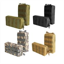 2x tactical molle pouch compact waterproof utility