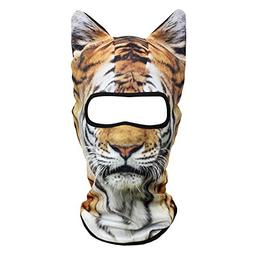 JIUSY 3D Animal Ears Balaclava Breathable Cover Hood Face Ma