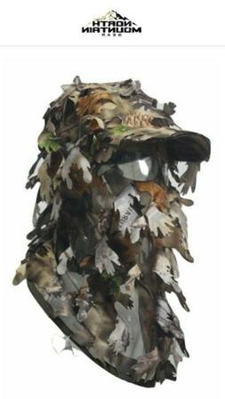 NORTH MOUNTAIN GEAR 3D Camouflage Full Cover Leafy Hat Brown