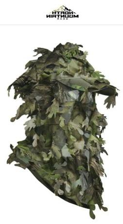 NORTH MOUNTAIN GEAR 3D Camouflage Full Cover Leafy Hat Green
