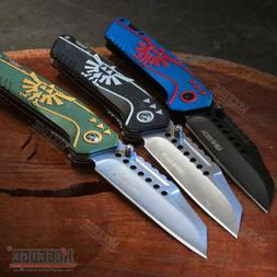 "7.75"" ZELDA POCKET KNIFE FOLDING BLADE EDC KNIFE HUNTING GEA"