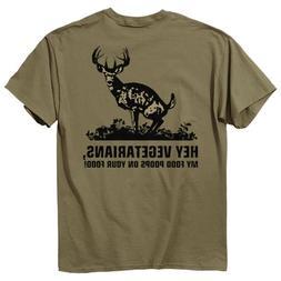 Buck Wear Food Poops Short Sleeve Tee, Prairie Dust,XXXXX-La