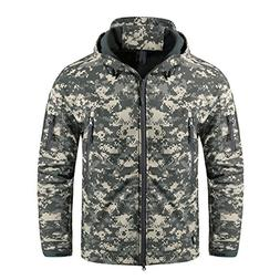 CRYSULLY Military Army Hunting Camo Tactical Soft Shell Flee