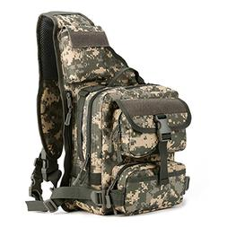 EKOO Tactical Military Daypack Sling Chest Pack Bag Molle Ba