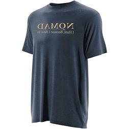 Nomad Logo Tee, Heather Navy, 2XL