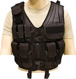 Red Rock Outdoor Gear Tactical Assault Vest, Black