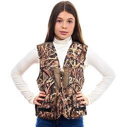 TrailCrest Kids Mossy Oak Deluxe Front Loader Hunting Vest,