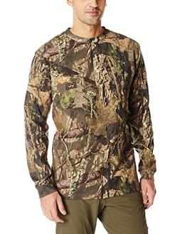 Walls Men's Big Men's Long Sleeve Camo T-Shirt, Mossy Oak Br