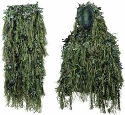 North Mountain Gear Adult Hybrid Ghillie Suit Woodland Green