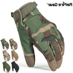 ReFire Gear Army Combat Tactical Gloves Men Touch Screen Cam