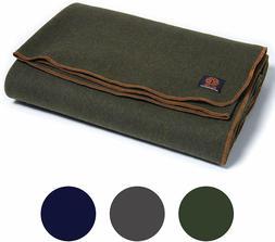 Army Wool Blanket Heavy Military Surplus Warm Survival Hunti