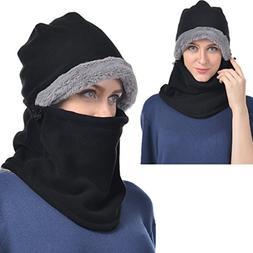UShake Balaclava Fleece Hood for Men or Women, Heavy Fleece