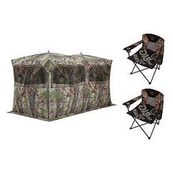 Barronett Blinds Big Blind Folding Chairs + Backwoods Double