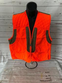 Guide Gear Bird Hunting Vest Mens XL Safety Orange Zip Front