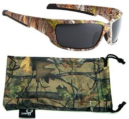 Hornz Brown Forest Camouflage Polarized Sunglasses for Men F