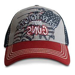 Buck Wear Ban Idiots Not Guns American Flag Hat / Caps
