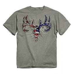 Buck Wear USA Rip Deer Skull Buck Hunting Shirt