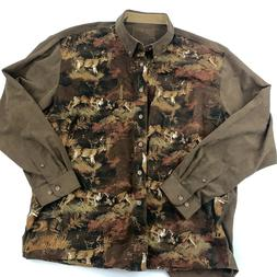 Legendary Whitetails Button Down Hunting Gear Deer Print Shi