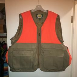 Cabela's Outdoor Gear Hunting Vest w/Game Pouch Orange & Tan