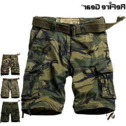 ReFire Gear Camo Outdoor Hunting Cargo Shorts Men Military T