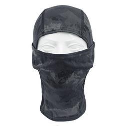 TClian Camouflage Balaclava Hood Ninja Headwear Breathable &