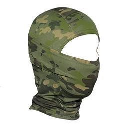 JIUSY Camouflage Balaclava Hood Ninja Outdoor Cycling Motorc