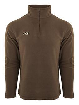 Drake Camp Fleece  Chocolate Pullover 1/4 Zip, Large