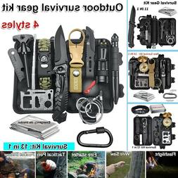 camping survival gear kit outdoor tactical hunting