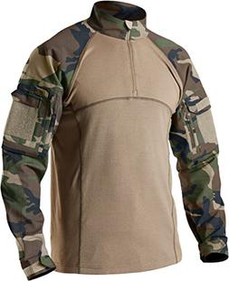 CQR CQ-TOS201-WOV_X-Large Men's Combat Shirt Tactical 1/4 Zi