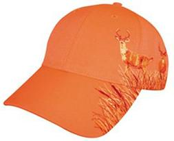 Blaze Orange Deer Hunting Hat With Buck Design
