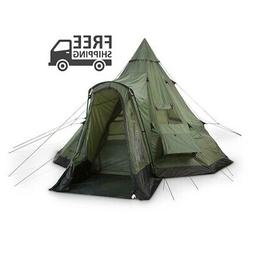 GUIDE GEAR Deluxe Teepee Tent 14 x 14 Outdoor Hunt Camp Outd