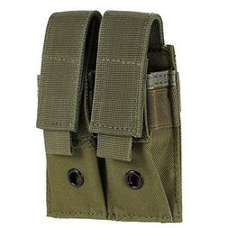 Double Pistol Mag Pouch, Uning Tactical MOLLE EDC Outdoor Fl
