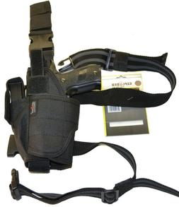 Explorer Drop Leg Holster Black Ambidextrous Tactical Gear w