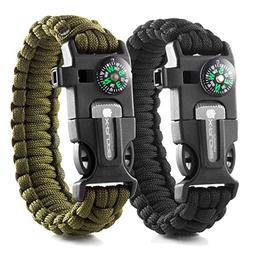X-Plore Gear Emergency Paracord Bracelets | Set Of 2| The UL