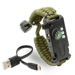 LeMotech Emergency Survival Bracelet, Adjustable Survival Pa
