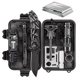 WORSPODAY Emergency Survival Kit - Paracord Bracelet, Emerge