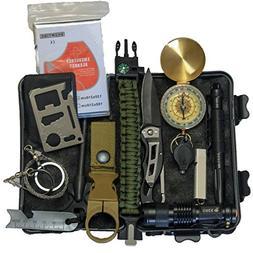 Outdoor Adventures Emergency Survival Kit 14 IN 1 Camping Hi