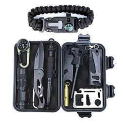 Aizhy Emergency Survival Kit 11 in 1,Professional Outdoor Su