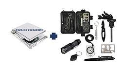 TacPilot Emergency Survival Kit: 11-in-1 Outdoor Gear Kit fo
