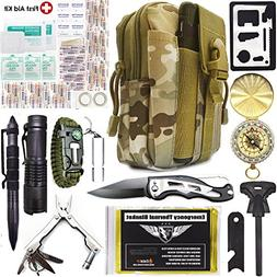 EVERLIT Emergency Survival Kit 40-in-1 Molle Pouch, Tactical