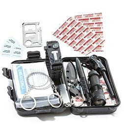 Timeless Recreation Emergency Survival Kit with First Aid Co