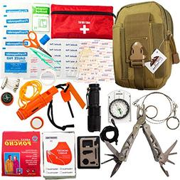 Emergency Survival Kit - First Aid Kit. Outdoor Survival Gea