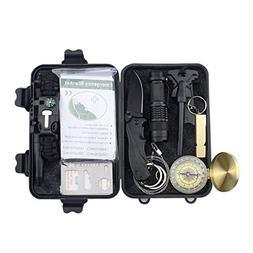 Niusute Emergency Survival Kits,11-in-1 Multi Professional T
